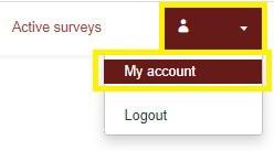 Click on My account (upper right-hand corner)
